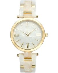 INC International Concepts Inc Imitation Mother-of-pearl Bracelet Watch 40mm, Created For Macy's - Metallic