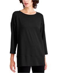 Eileen Fisher Layered-hem Tunic - Black