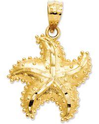 Macy's 14k Gold Charm, Satin Starfish Charm - Metallic