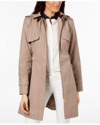 Cole Haan - Belted Buckle Trench Coat - Lyst