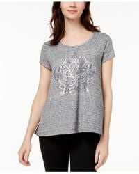 Style & Co. - High-low Graphic T-shirt - Lyst