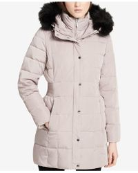 CALVIN KLEIN 205W39NYC - Faux-fur-trimmed Puffer Coat With Inner Vest - Lyst