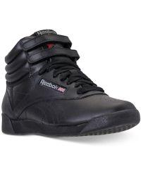 Lyst - Reebok Women S Alicia Keys Wedge Casual Sneakers From Finish ... e4b83efbd