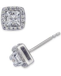 Macy's - Diamond Square-set Stud Earrings (1/4 Ct. T.w.) - Lyst