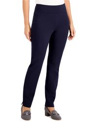 Charter Club Pull-on Ponté-knit Pants, Created For Macy's - Blue