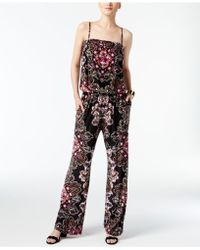 INC International Concepts - Printed Knit Jumpsuit - Lyst