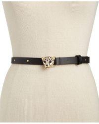 Kate Spade - Cheetah-buckle Leather Belt - Lyst
