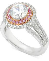 Marchesa - Diamond Engagement Ring (2-1/2 Ct. T.w.) In 18k White Gold And Rose Gold - Lyst