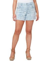 Jessica Simpson Plus Size Infinite High Waist Denim Shorts - Blue