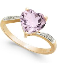 Macy's | Pink Amethyst (1-3/4 Ct. T.w.) & Diamond Accent Ring In 14k Gold | Lyst