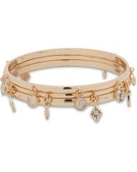 Anne Klein - Gold-tone 2-pc. Set Charm Bangle Bracelets - Lyst