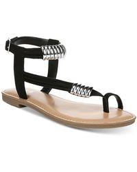 Bar Iii Vella Flat Sandals, Created For Macy's - Black