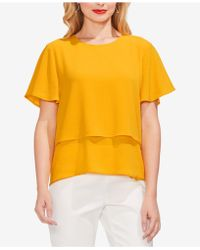 Vince Camuto - Tiered-hem Top - Lyst