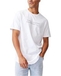 Cotton On Longline Scoop T-shirt - White