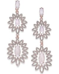 INC International Concepts - I.n.c. Rose Gold-tone Pavé & Colored Stone Double Drop Earrings, Created For Macy's - Lyst