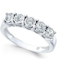 Macy's - Diamond Five-stone Band (1/2 Ct. T.w.) In 14k White Gold - Lyst
