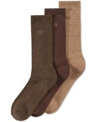 CALVIN KLEIN 205W39NYC - Men's 3-pack Cotton Cushion Sole Socks - Lyst