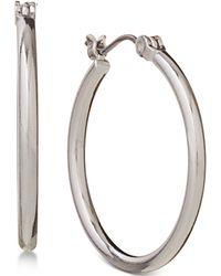 Nine West | Earrings, Silver-tone Small Hoop Earrings | Lyst