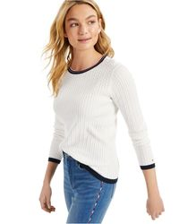 Tommy Hilfiger Cotton Cable-knit Sweater - White