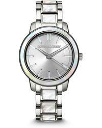 Original Grain Silver-tone Stainless Steel Bracelet Watch 36mm - Metallic