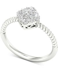 Macy's - Diamond Cluster Statement Ring (5/8 Ct. T.w.) In 14k White Gold - Lyst