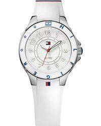 Tommy Hilfiger - Watch, Women's White Silicone Strap 34mm 1781271 - Lyst