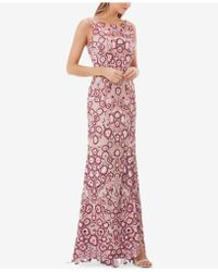 JS Collections - Floral Embroidered Gown - Lyst