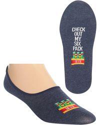 Hot Sox Graphic Liner Socks - Blue