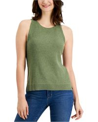 Charter Club Sleeveless Sweater, Created For Macy's - Green