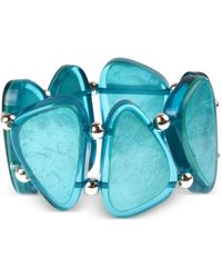 Style & Co. Bead & Resin Stretch Bracelet, Created For Macy's - Blue