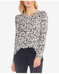 Vince Camuto - Rose-print Top - Lyst