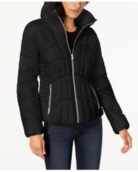 Guess - Stand-collar Puffer Coat - Lyst