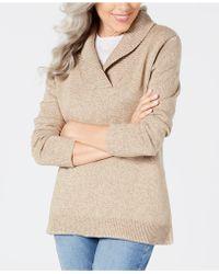 Karen Scott - Shawl-collar Sweater, Created For Macy's - Lyst