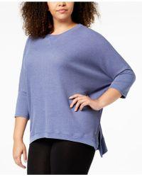 Calvin Klein - Performance Plus Size 3/4-sleeve Top - Lyst