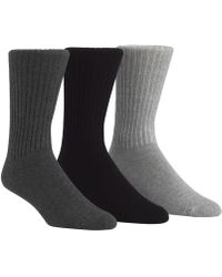 CALVIN KLEIN 205W39NYC - Socks, Cotton Rich Casual Rib Crew 3 Pack - Lyst