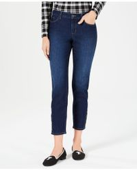 Charter Club - Tummy-control Button Hem Ankle-length Skinny Jeans, Created For Macy's - Lyst
