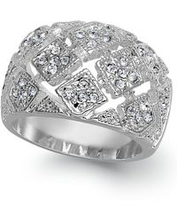Charter Club - Silver-tone Crystal Mesh Wide Ring - Lyst