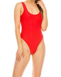 Kendall + Kylie Low Back One-piece Swimsuit - Red