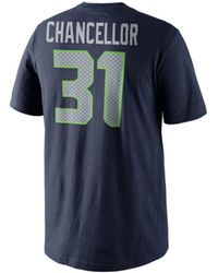 Nike - Men'S Kam Chancellor Seattle Seahawks Pride Name And Number T-Shirt - Lyst