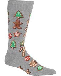 Hot Sox Socks, Cookies Crew - Gray