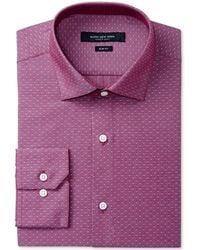 Marc New York - Slim-fit Motion-ease Collar Wrinkle-free Diamond Print Dress Shirt - Lyst
