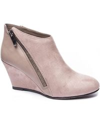 CL By Chinese Laundry Viola Wedge Ankle Booties - Pink