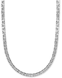 """Macy's Men's Sterling Silver Necklace, 22"""" 8mm Marina Chain - Metallic"""