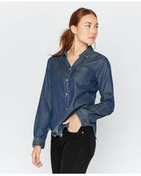 Thread & Supply Thread Supply Chambray Long Sleeve Button Down - Blue