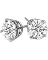 Macy's - Diamond Stud Earrings (1/2 Ct. T.w.) In 14k White Gold - Lyst