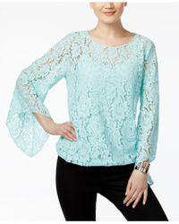 Alfani - Lace Blouson Top - Lyst