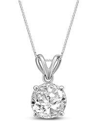 "Macy's - Diamond 18"" Pendant Necklace (3/4 Ct. T.w.) In 14k White Gold - Lyst"