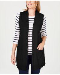 Karen Scott Sweater Vest, Created For Macy's - Black
