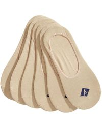 Sperry Top-Sider Socks 6-pack, Solid Canoe Liners - Natural