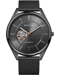 Bering Automatic Gray Stainless Steel Mesh Strap Watch 43mm